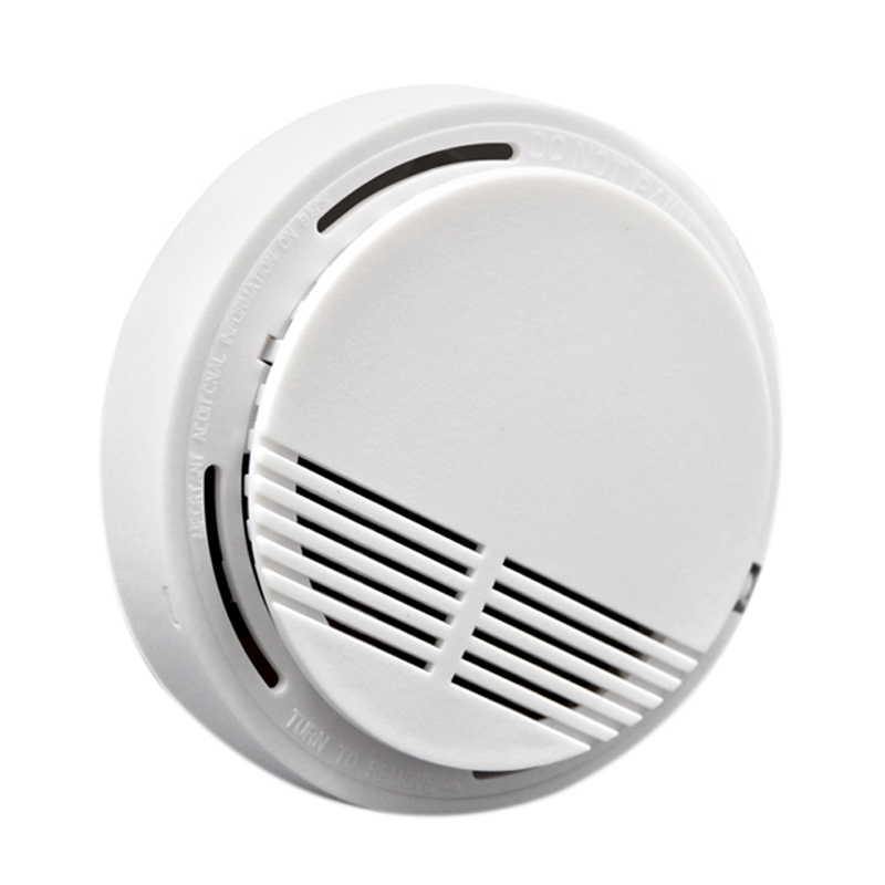 AMS-9V/168 433Mhz Wireless Smoke Detector For Wifi / Pstn / Gsm Home Security System White Plastic