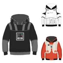 Sweatshirts Star Wars Boys Girls Kids Hoodies Polyester Children Clothes Long Sleeve Print Costumes Toddler Child's Hoodie