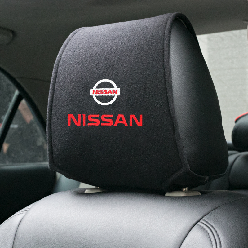 Car Styling For Nissan Nismo X-trail Qashqai Tiida Teana Juke Hot Car Headrest Cover 1pcs