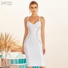 Женское облегающее платье adyce Белое Облегающее Платье на бретельках