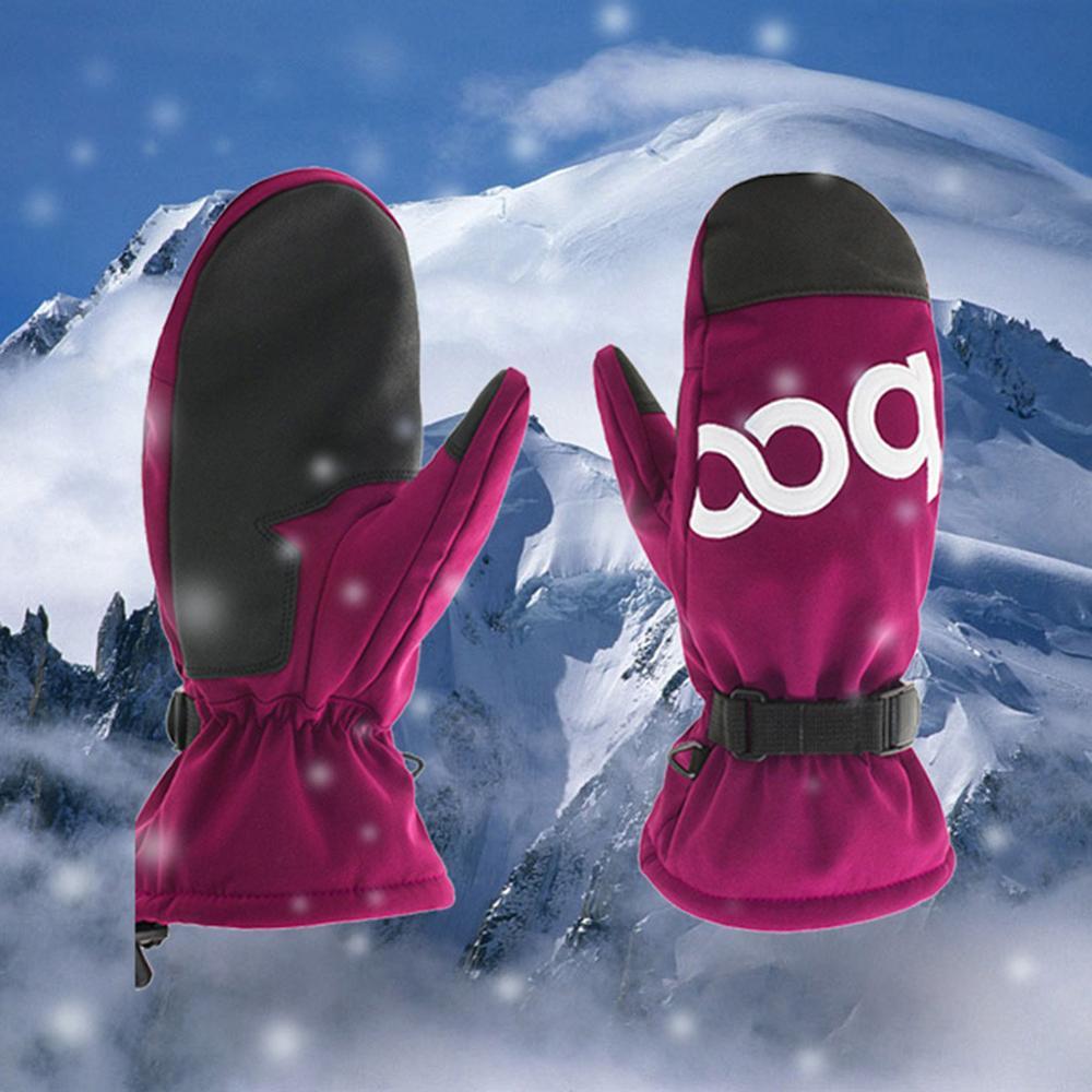 Men Women Snowboard Gloves Winter Skiing Skating Warm Rainproof Gloves Thickening Anti-skid Sport Mittens