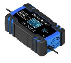 FOXSUR 3 krok po kroku automatyczna ładowarka samochodowa wyświetlacz LCD szybkie ładowanie 100-240V do 12V 24V 8A samochód ładowarka motocyklowa