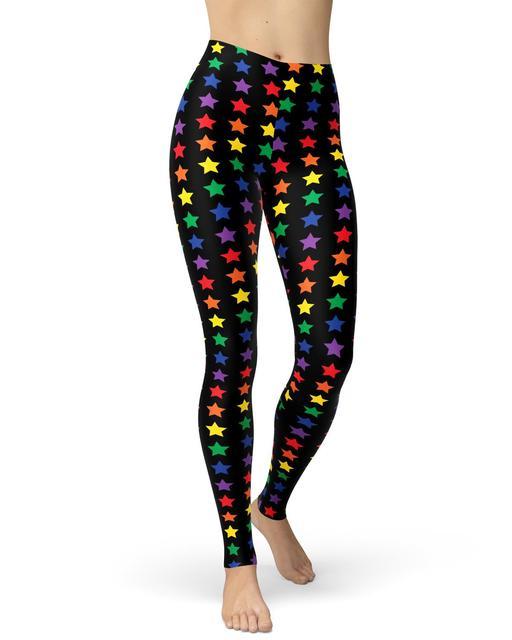 Pealu-Arabesque Coloré Imprimé Leggings Taille Unique Pantalon Femmes