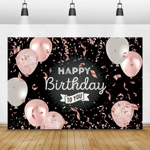 Laeacco Balloons Ribbons Glitters 18 20 30 40 Birthday Photography Backdrops Personalized Photographic Backgrounds Party Decor