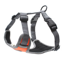 Hund Weichen Einstellbare Harness Pet Großen Hund Fuß Aus Harness Weste Kragen Hand Strap für Small Medium Large Hunde Reflektierende nylon(China)