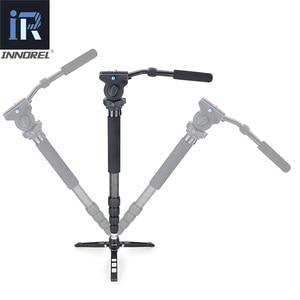 Image 3 - RM60CK Professional Video Monopod Kit 10 Layer Carbon Fiber for DSLR Camera Gopro Telescopic add Fluid Head Tabletop Tripod Base