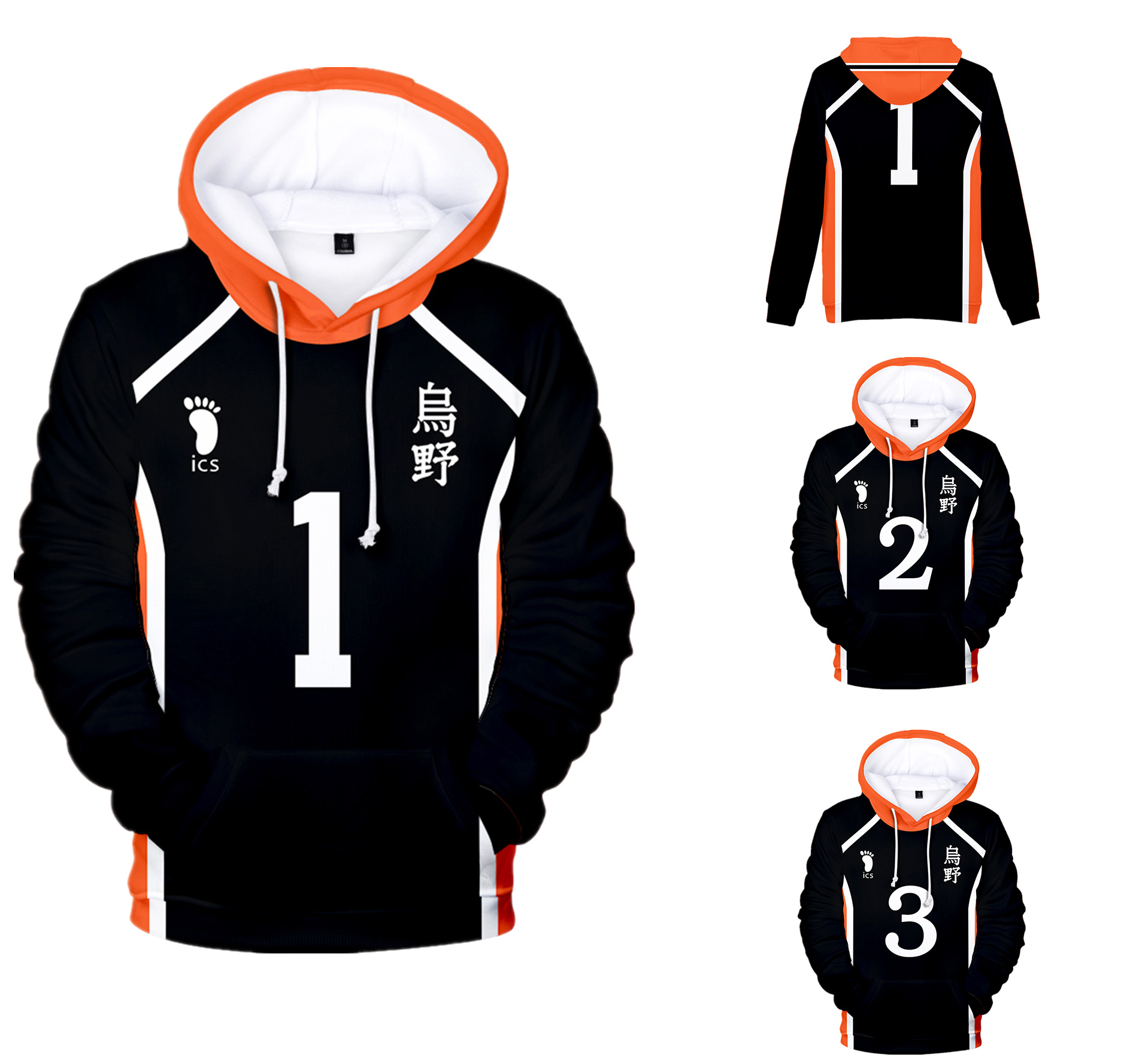 Young Manga Harajuku Hooded Sweatshirt 2020 Haikyuu!! Cool Fashion 3D Sawamura Daichi  Adult Kids Pullovers Hoodies Sweatshirts