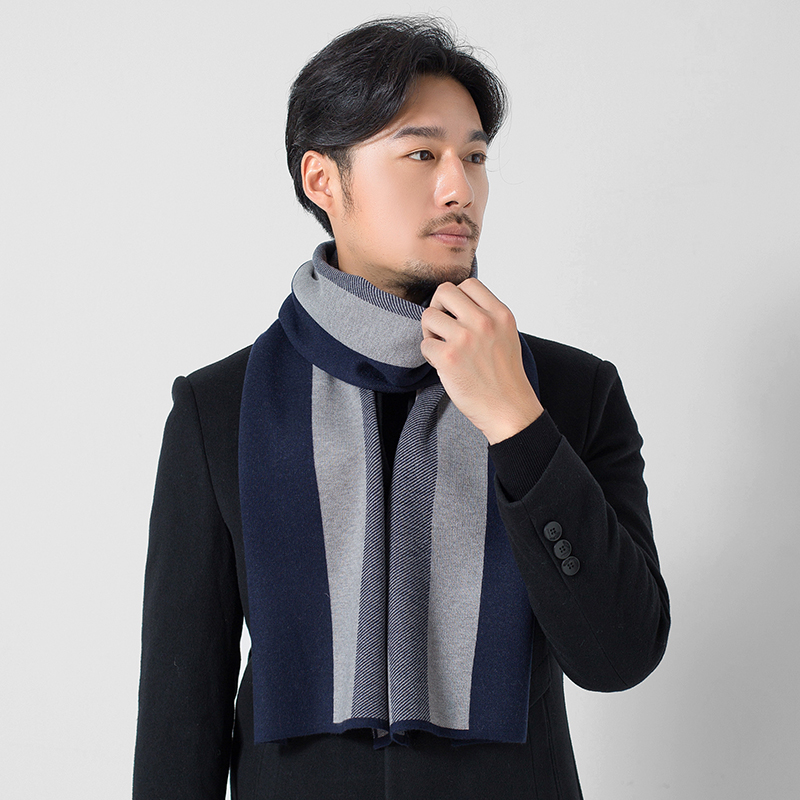 Winter Men Scarf Wool Warps Soft Luxury Brand Shawls and Wraps Japanese Korean Classical Male Warm Elegant Wool Scarves Echarpe Herbal Products