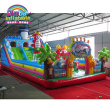 Commercial Bounce House Slide shark inflatable playground inflatable jumping bouncy castle for kids(China)