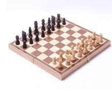 Деревянные шахматы 32 piece развлечения набор с шахматной доской