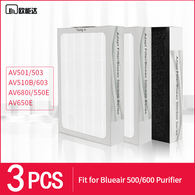 3PCS for Blueair / Bruges 501/503/550E/510B/603/650E composite filter