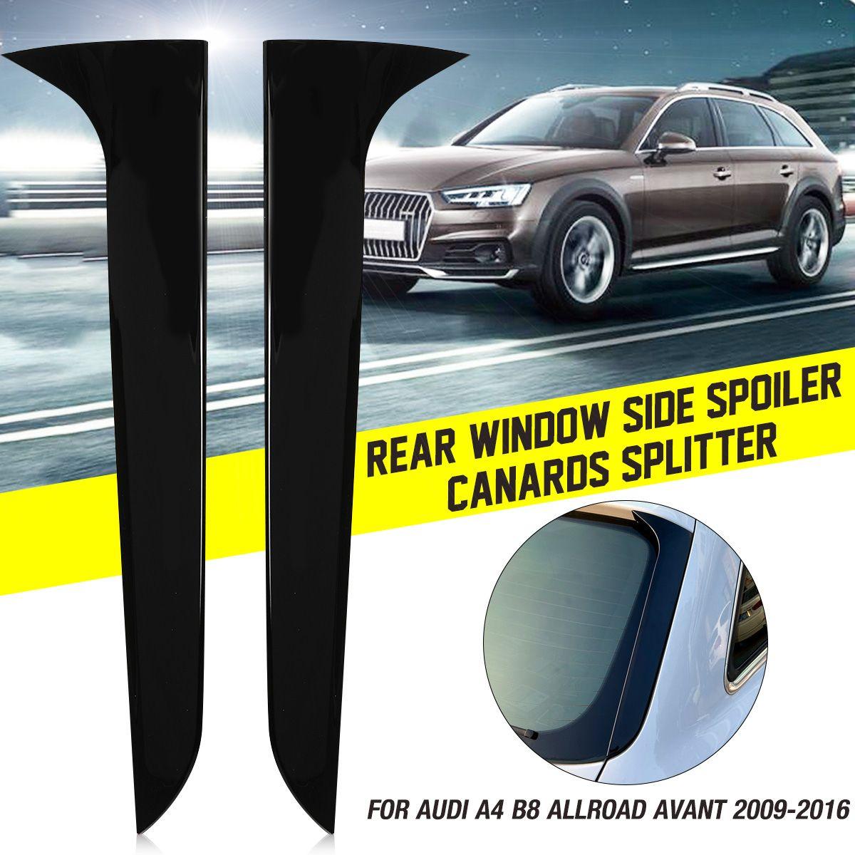 Gloss preto janela traseira lateral spoiler asa para audi a4 b8 allroad avant 2009 2010 2011 2012  2016 carro estilo acessórios de automóveis|Spoilers e aerofólios|   -