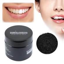 Clareamento do pó do dente saúde natural inofensivo carvão de bambu clareamento do pó do dente oral cuidados com os dentes hortelã pó de limpeza tslm1