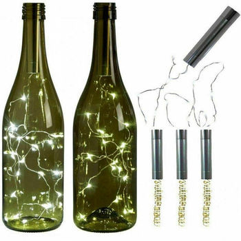 10 15 20 светодиодный светильник s пробковая форма Ночник светильник 1 м 1,5 м 2 м для бутылки вина Звездные рождественские вечерние свадебные теп...