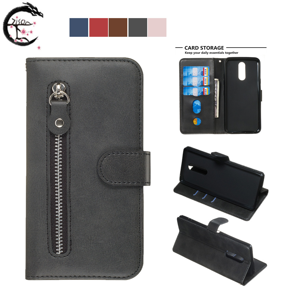 Flip Cover For LG K40 K12 Plus PU Leather Case <font><b>K12plus</b></font> K12+ Phone Cases Wallet Holder Stand Shell Card Slots Casing Capa image