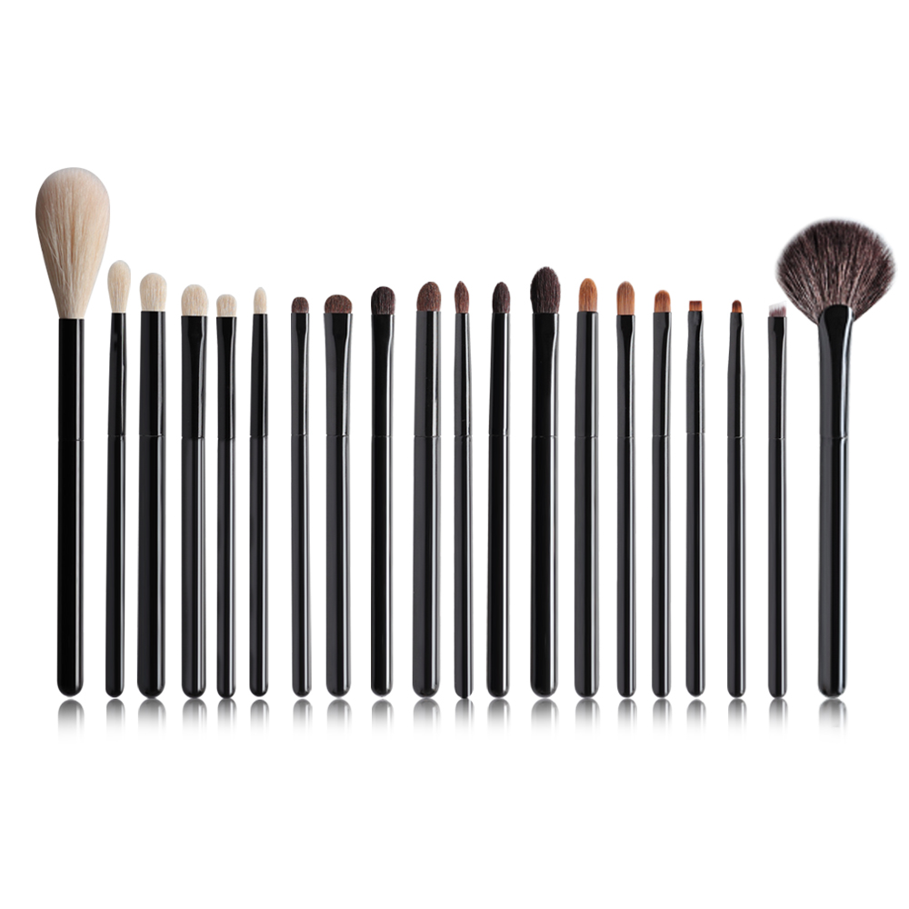 OVW 2 Pcs Goat Professional Cosmetic Makeup Brushes Tools Natural Hair Black Painting Wood Handle Brochas Maquillaje Pelo Natura