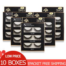 Wholesale False Eyelashes 10 Boxes Mink Eyelashes Natural Long False Lashes Wholesale 3d Mink Lashes Eyelash Extension Makeup