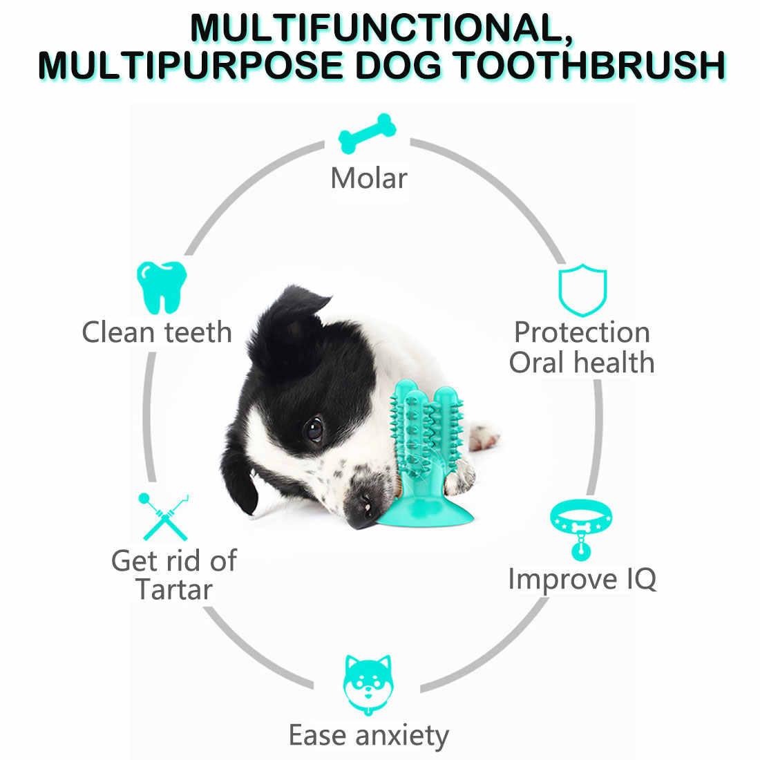 Собаки жевательные игрушки чистка зубов щенки палочка для ухода за зубами с всасыванием домашних животных облегчение тревоги улучшение IQ резиновый материал
