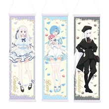 150x50 Cm Anime Re:life in a Different World from Zero Rem Wall Scroll Mural Poster Wall Hanging Poster Home Decor Collection недорого
