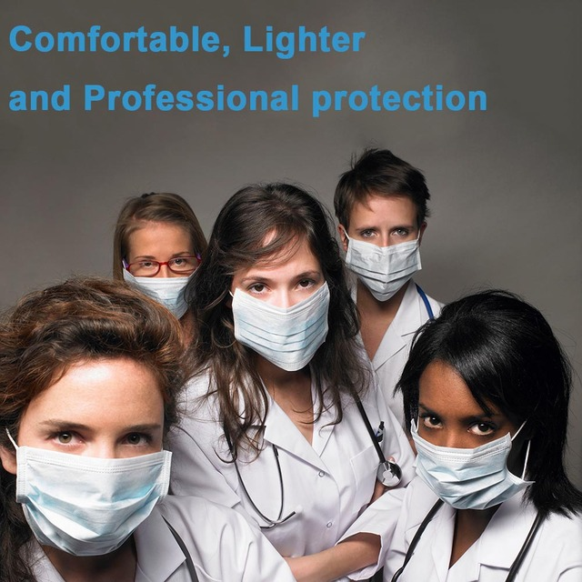 3 Laye Mask dust protection Masks Disposable Face Masks Elastic Ear Loop Flu Face masks Dust Filter Safety Mask 3