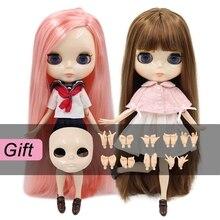 Buzlu DBS Blyth Doll oyuncak ortak vücut bjd beyaz cilt parlak yüz 1/6 oyuncak 30cm satış özel teklif