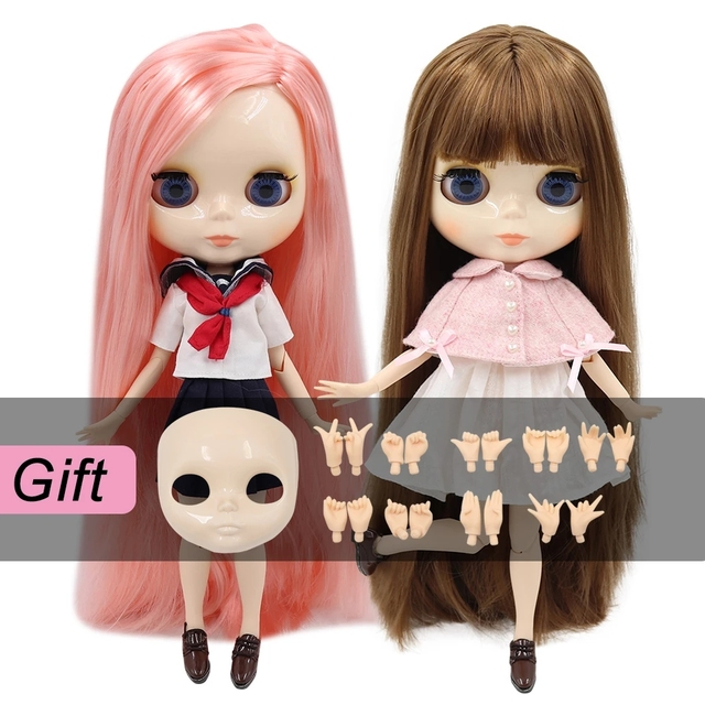 ICY DBS blythe Doll toy joint body bjd white skin shiny face 1/6 toy 30cm in vendita offerta speciale