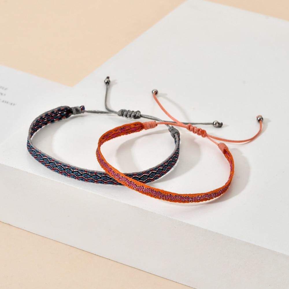ZMZY Bohemian Tibetan Woven Rope Bracelets for Women Men Stacking Adjustable Lucky Rope Knot Bracelet Jewelry Gift Wholesale