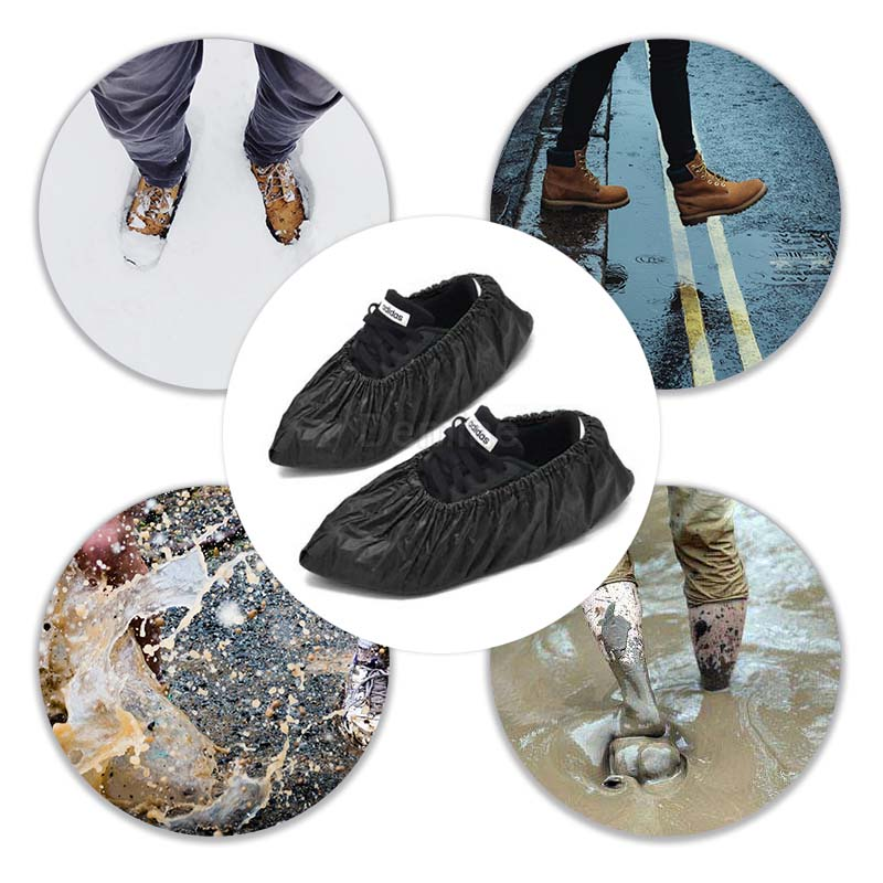 DEMINE Durable and Waterproof Shoe Protector with Anti Slip Sole for Outdoor Activity in Rainy Days Also Suitable for Mud Beach and Snow 6