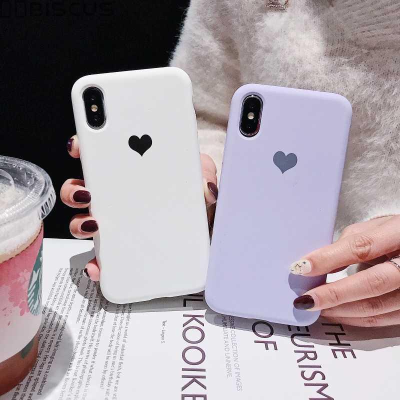 Kẹo Màu Trái Tim Tình Yêu Cho iPhone 11 Pro 12 Mini XR XS X Xs Max Điện Thoại Cho iPhone 8 7 6 6S 6S Plus TPU Dẻo Silicone Ốp Lưng