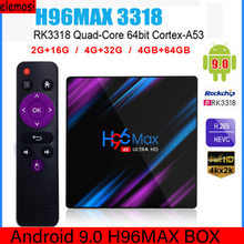 H96 MAX Smart TV BOX Android 9.0 TV BOX RK3318 4K 1080P WiFi 2.4G/5G WiFi H.265 HDR Netflix Google Play Set Top Box Media Player 2019 best stable media player smart tv box netflix youtube h96max max rk3318 android tv box 2 4 5 0g wifi h 265 tv set top box