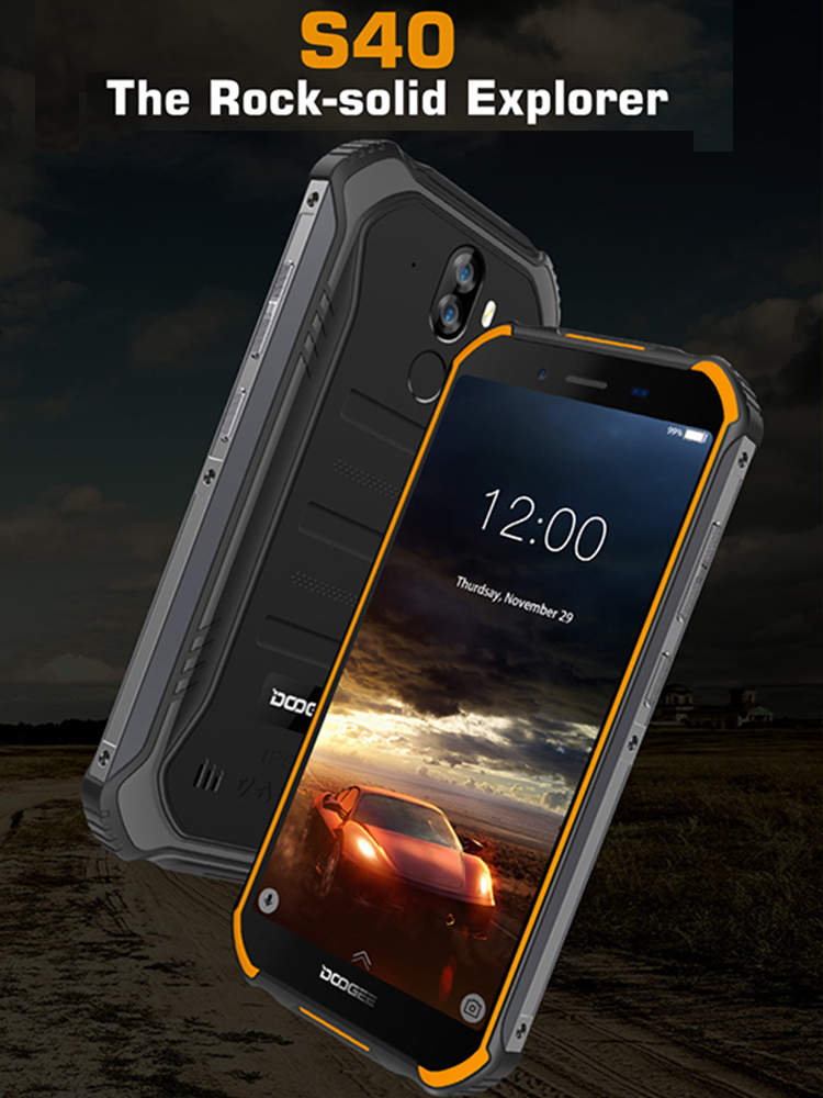 DOOGEE S40 3GB 32GB IP68/IP69K 4G GSM/WCDMA/LTE Nfc Gorilla Glass Quad Core Face Recognition/fingerprint Recognition