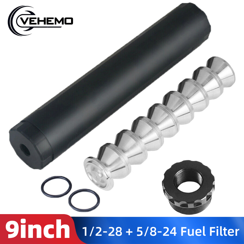 14 pcs 9 inch 알루미늄 5/8-24 1/2-28 자동차 연료 필터 자동차 솔벤트 트랩 d 셀 저장 컵 나파 4003 wix 24003 자동차 액세서리
