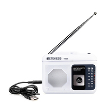 Retekess TR 606 휴대용 라디오 카세트 라디오 FM AM 자기 테이프 카세트 재생 음성 레코더 48cm 안테나 3.5mm 마이크