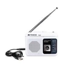 Retekess TR 606 נייד רדיו קלטת רדיו FM AM מגנטי קלטת קלטת השמעת קול מקליט 48cm אנטנת 3.5mm מיקרופון