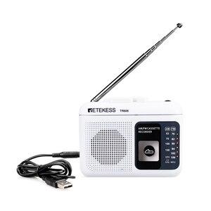 Image 1 - Retekess TR 606 נייד רדיו קלטת רדיו FM AM מגנטי קלטת קלטת השמעת קול מקליט 48cm אנטנת 3.5mm מיקרופון