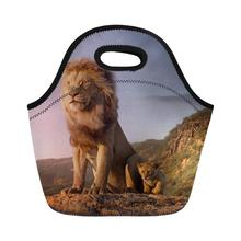 2019 Animal Lion King Lunch Bag  For Kids Waterproof Food Beverage Bento Box Storage Tote bag picnic Thermal Lunch Storage Tote pearland oilers p lunch tote personalized