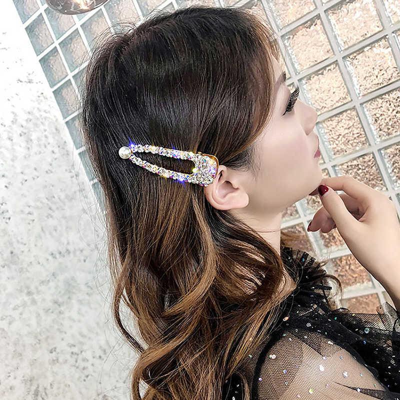 Crystal Hair Pins Wedding Bride Crown Hair Accessories For Women Fashion Korean Hair Pins Tiara Hair Clip Jewelry Braided Rope