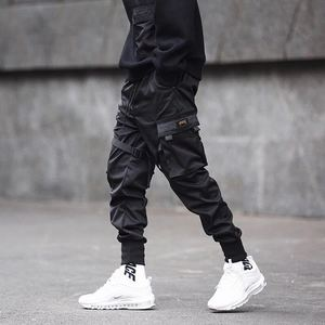 Image 1 - Pantalones tácticos para hombre, ropa para correr, color negro