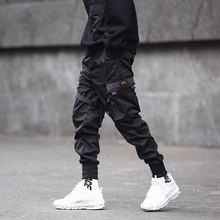 רצים גברים שחור טקטי Techwear מכנסיים
