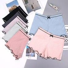 Verano de las mujeres Braga pantalón de protección pantalones transpirables calzones tipo Boxer de algodón pantalones cortos sin costura ropa interior ropa Mediados de cintura pantalones cortos de niño