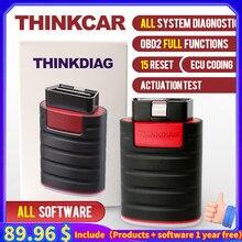Thinkdiag Bluetooth OBD2 сканер новая версия помощи при парковке OBD 2 давления воздуха в шинах код ридер автомобильный диагностический инструмент для п...