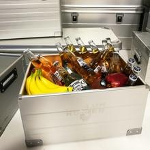 Aluminum Alloy Open Storage box Home Off-Road car Trunk Transport Box Outdoor bar ice Bucket Multifuncti