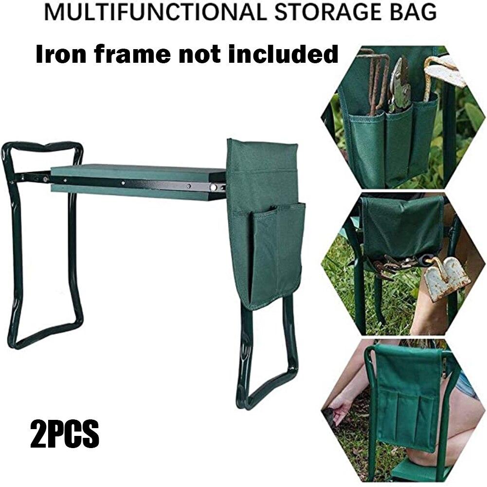 2 Pcs Tool Side Bag Pockets Pouch for Garden Bench Garden Kneeler Stools Gardening PAK5