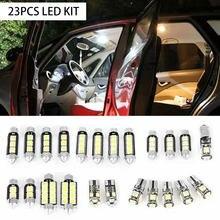 23PCS LED T10 5050 Car Light Bulb Interior Dome Trunk License Plate Lamps Kit White For Bmw E60 E90 Golf 4 7 LED Lamp Universal