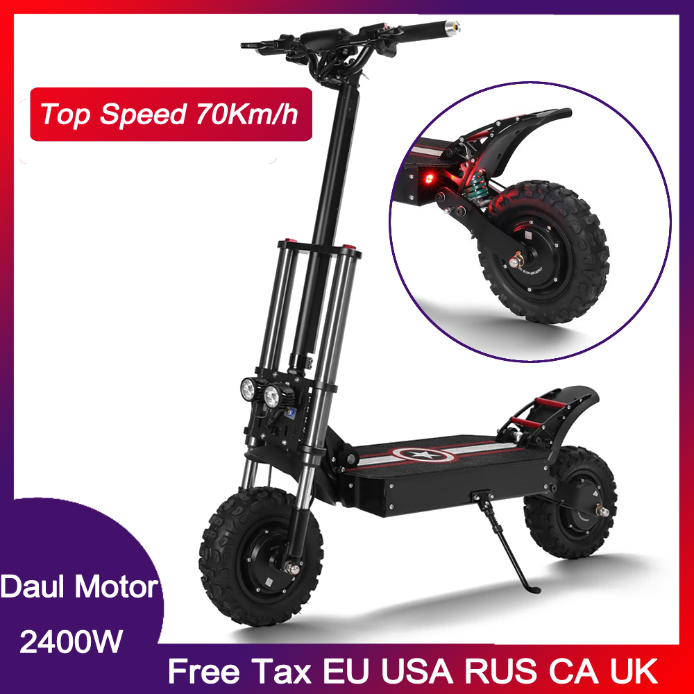 Newest Off Raod Electric scooter 11inch Double motor High Speed electric scooter 60V 2400W 70km/h hydraulic brake Zero scooter