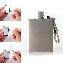 Metal Permanent Matches Striker Rectangular Flint Stone Cigarette Lighters match keychain emergency lighter Survival Gear Tools(China)