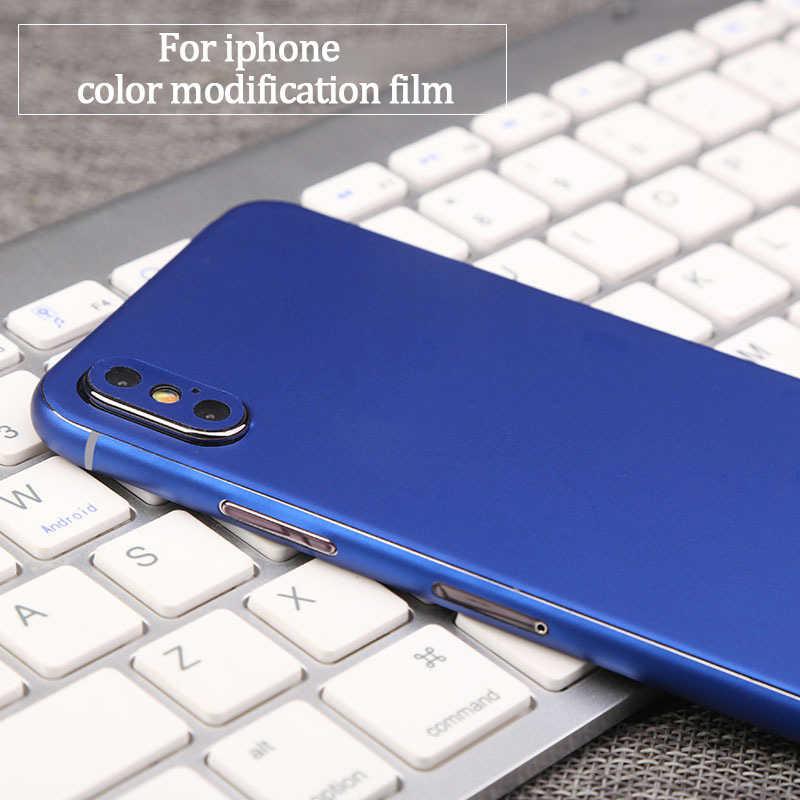 Pegatinas brillantes de lujo para teléfono móvil para iPhone 7 6 6 S 8 Plus 5 protector de la parte posterior de la película para iPhone etiqueta Adhesiva X XS
