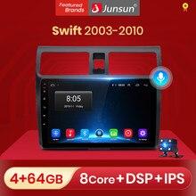 Junsun – lecteur multimédia pour Suzuki Swift, Android 10.0, Navigation à commande vocale AI, 2 Din, pour modèles de 2003 à 2005, 2006, 2007, 2008 à 2010