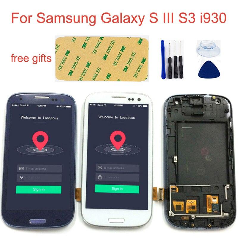 LCD Para Samsung Galaxy S III i9300 GT-I9300 S3 S3 Neo i9300 GT-i9300i Monitor Lcd + Montagem da Tela de Toque + quadro