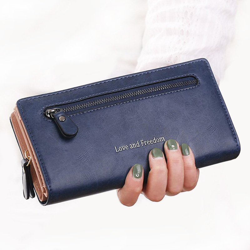 Luxury Women Wallets Card Holder Ladies Purses Handbags Money Coin Purse Woman Clutch Long Zipper Wallet Burse Bags Pocket W102